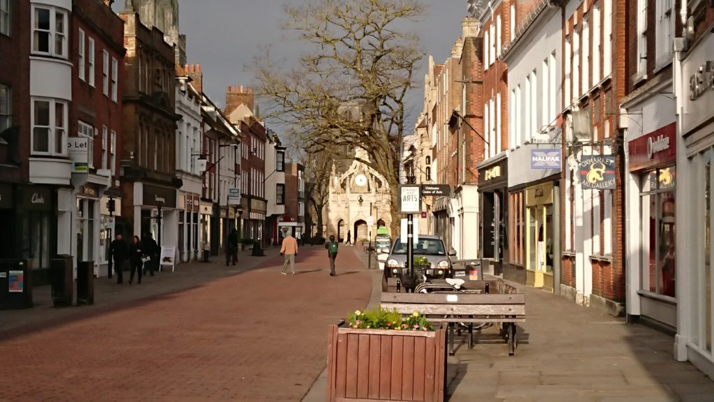Chichester city centre West Sussex