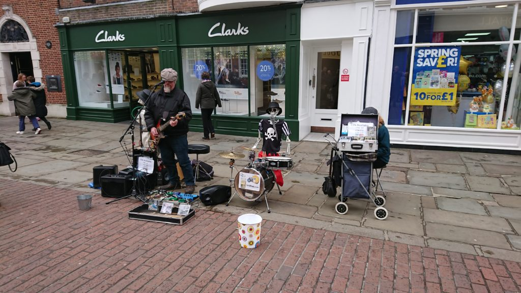 Rob Berry busking in Chichester