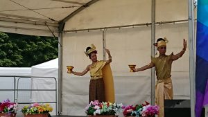 Traditional Thai dancers in the UK