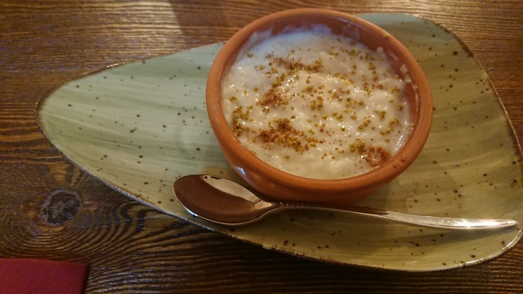 Rice pudding in Chichester